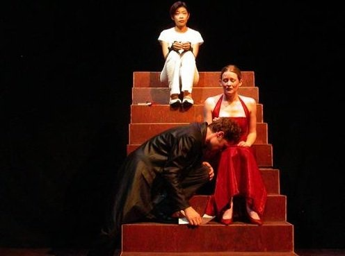 "Simon Rice, Jo Chim and Meghan Mesheau in ""Eugene"""