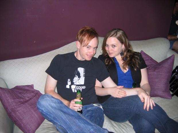 Michael Sullivan with Tim Buck 2 Script Coordinator Aislinn Rose