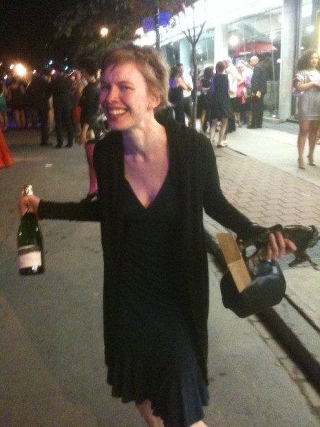 Champagne: Check, Dora Statue: Check. It look like you won Christine Horne.