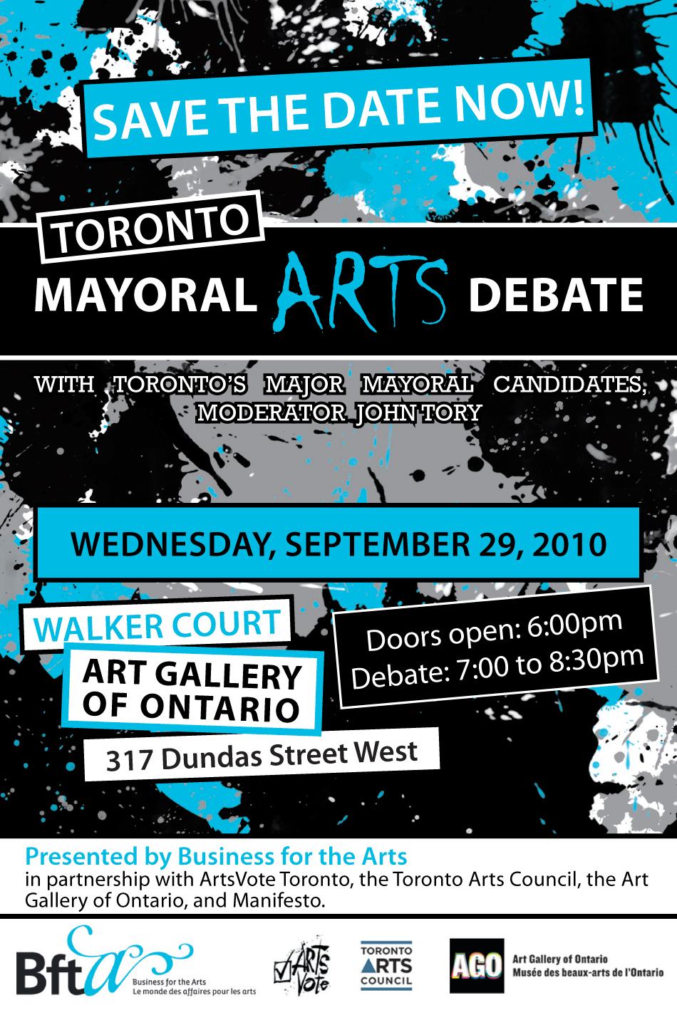 Mayoral Arts Debate