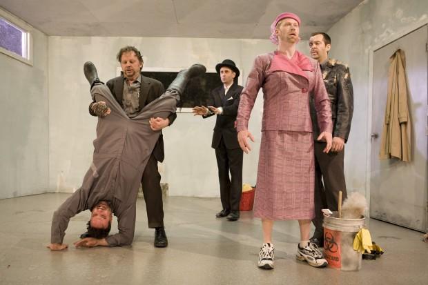Tony Nappo, David Ferry, Alon Nashman, Geoff Pounsett, and Paul Braunstein in Alias Godot.