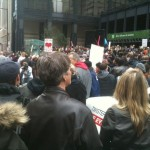 Occupy TO March meets @ King & Bay St.