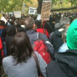 Occupy TO March arrives at St. James Park