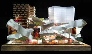 Frank Gehry's proposed model for the King St Mirvish re-development.