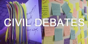Civil Debates Post it Box