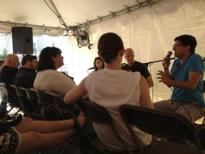 2011 #TentTalk hosted by Gideon Arthurs.