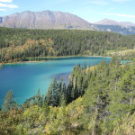 On the way to Carcross we came across Emerald Lake...