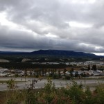 Even on a cloudy last day, the view of Whitehorse from the Arts Centre is amazing