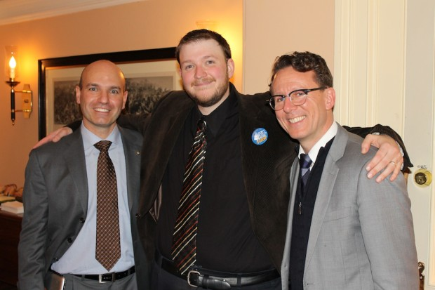 House Leader of The Official Opposition MP Nathan Cullen, Tommy Taylor and MP Andrew Cash