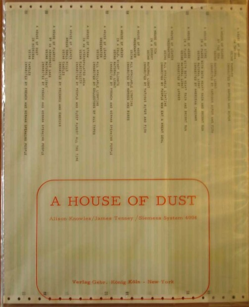 A House of Dust, Alison Knowles and James Tenney (1967)